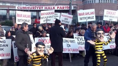 'Dalton Kardeşler' kıyafetleriyle CHP Genel Merkezi önünde eylem - ANKARA