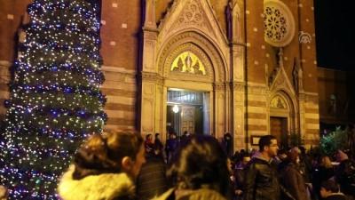 İstanbul'da Noel kutlaması - Saint Antuan Kilisesi'nde ayin düzenlendi - İSTANBUL