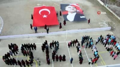 Lise öğrencilerinden Atatürk'ün Kaman'a gelişine özel koreografi