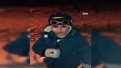 7 yaşındaki minik çocuk usta muhabirlere taş çıkarttı