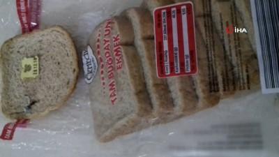 mel b -  Ekmeğin içinden çıkan yabancı madde vatandaşı şok etti