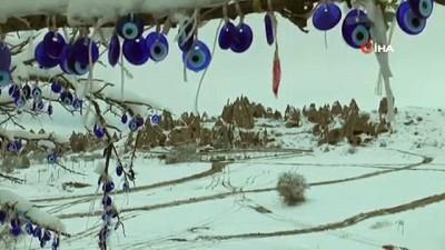 Kapadokya'da kış sanatı turistleri kendisine hayran bıraktı