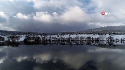 Gököz Göleti'nin havadan görüntüleri mest etti