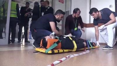 Bitlis Devlet Hastanesinde yangın tatbikatı