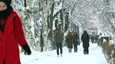 kar manzaralari -  Erzurum'da kar yağışı, buzlanma ve tipi etkili oluyor