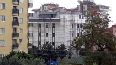 Yok Artık -  7 katlı binanın iskelesinde ölüme meydan okudular