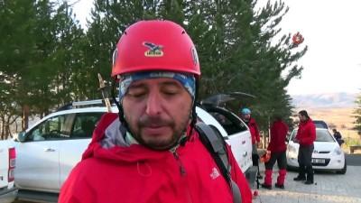 helikopter - Çığ altında kalan dağı dedektör ve köpekle aranacak