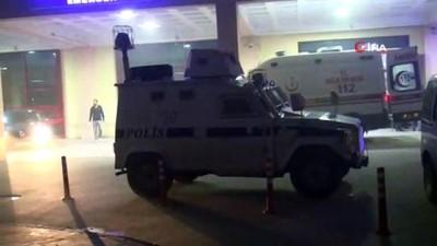 silahli kavga -  Hastane önünde çatışma: 1'i ağır 5 yaralı