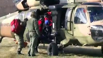 helikopter -  Kayıp dağcıyı arama çalışmaları sürüyor