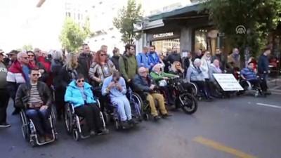 Yunanistan'da engellilerden gösteri - ATİNA