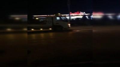 İnegöl'de hafif ticari araçla çarpışan otomobil takla attı: 1 yaralı