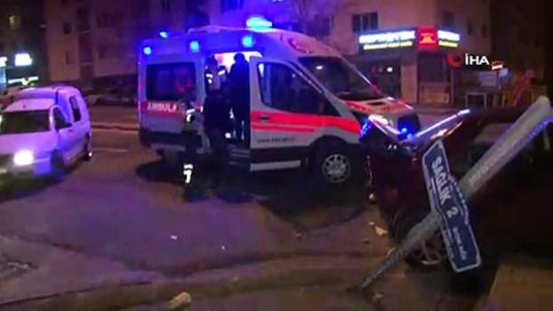 metro istasyonu -  Başkent'te trafik kazası: 2 yaralı