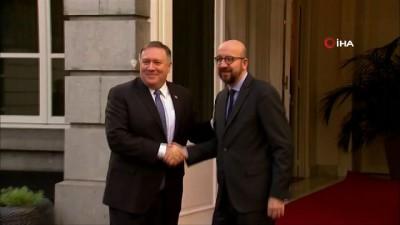 - Belçika Başbakanı Michel, ABD Dışişleri Bakanı Pompeo'yu Ağırladı