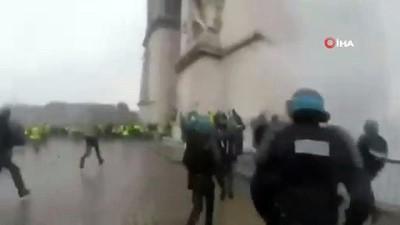 polis kamerasi -  - Fransa'da Gösterilerin Şiddeti Polis Kamerasında