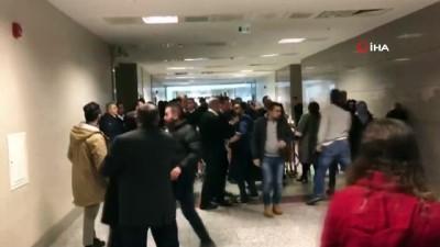 İstanbul Adliyesi koridorlarında cinsel taciz davası öncesi kavga