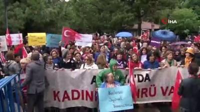 Antalyalı kadınlardan 'Türk Kadınına Seçme ve Seçilme Hakkı' tanınmasının 84. yıl dönümünde yürüyüş