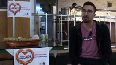 Üniversitelilerden 'askıda simit' projesi - İZMİR