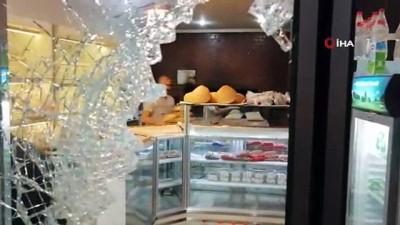 guvenlik kamerasi -  Bursa'da fırın ve kasaba yapılan molotoflu saldırıda 3 gözaltı