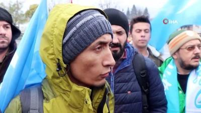 Çin'i protesto etmek için İstanbul'dan Ankara'ya yürüyorlar