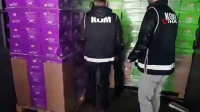 Denizli'de kaçak sigara ve alkol operasyonu