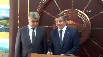 bulduk -  Eski Başbakan Ahmet Davutoğlu Karabük'te
