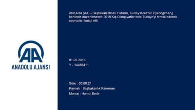 Başbakan Yıldırım, 2018 Kış Olimpiyatları'na katılacak sporcuları kabul etti - ANKARA