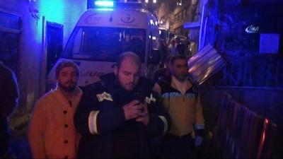 Fatih'te bulunan metruk bina işte böyle yandı