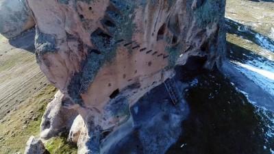 Kral Midas'ın kızının yaşadığı Doğanlıkale havadan görüntülendi
