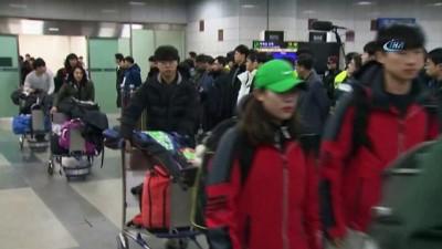 - Kuzey Koreli atletler Güney Kore'de