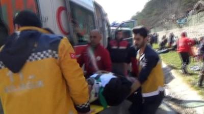 Abant Tabiat Parkı yolunda trafik kazası: 11 yaralı