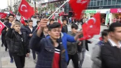 Afrin'e destek yürüyüşü düzenlendi