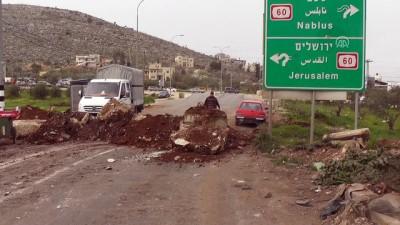 İsrail, Batı Şeria'da bir beldenin girişini kapattı - NABLUS