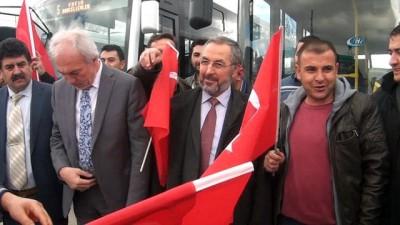 Kütahya özel halk otobüsü işletmecilerinden Mehmetçiğe destek
