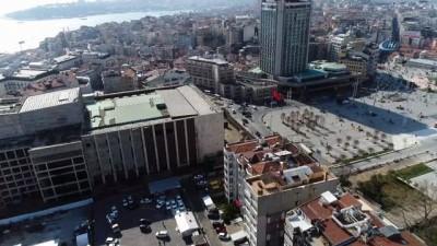 AKM'de yıkım başladı, çalışmalar havadan görüntülendi