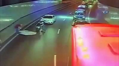 Araçtan düşen yatakla kaza yapmıştı, sürücü yaşananları İHA'ya anlattı