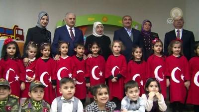 Başbakan Yıldırım, açılışını yaptığı Şehit Piyade Uzman Çavuş Selim Topal Kızılay Anaokulu'nu gezdi - ERZİNCAN