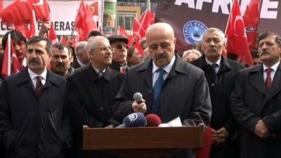 - Kamu çalışanlarından Zeytin Dalı Harekatına destek eylemi