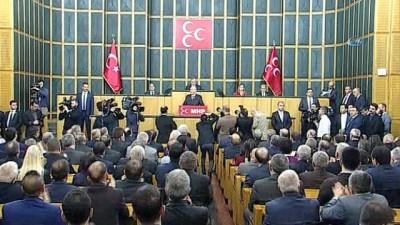 """MHP Lideri Bahçeli:""""Yüzbinlerce Bozkurt Afrin için hazırdır"""""""