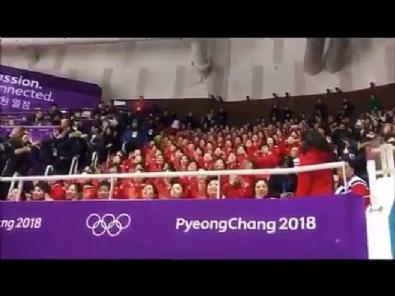 Olimpiyatlara damga vuran Kuzey Kore taraftarları - 2