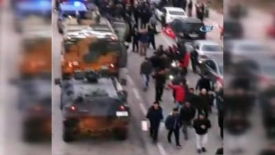 Yüzlerce vatandaş Afrin'e giden PÖH ve JÖH'leri böyle karşıladı