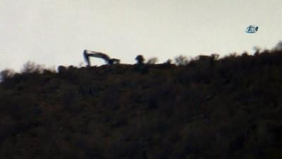 Bölgede iş makineleri çalışmaya başladı... Afrin, Darmık Dağı'ndan vurulacak