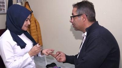 DİYABETLİ HAYATLAR - Diyabetli hemşire hastalara moral dağıtıyor - ERZURUM