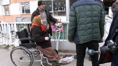 Engelli kadın 'yardım bahanesine 45 liramı çaldılar' diye gözyaşlarına boğuldu