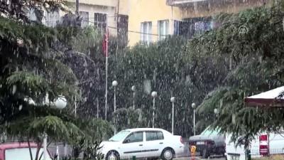 Manisa'da kar yağışı