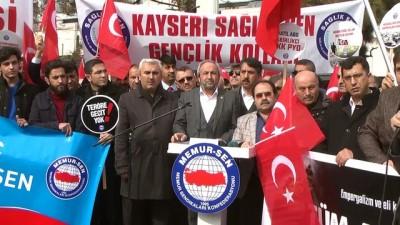 Sendikalardan Zeytin Dalı Harekatı'na destek - KAYSERİ