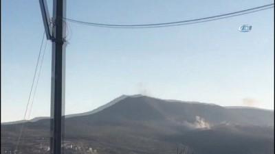 Türk topçuları dağı bombaladı, köylüler o anları böyle görüntüledi