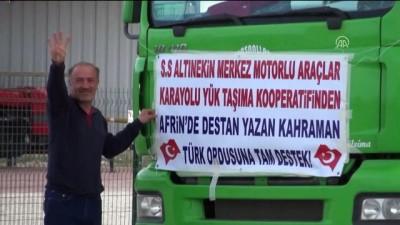 Altınekin'den 300 tırla Zeytin Dalı Harekatı'na destek konvoyu - KONYA