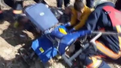 Ayağı çapa makinesine sıkışan yaralı kurtarıldı