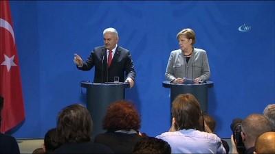 """- Başbakan Yıldırım: """"Almanya - Türkiye dostluğunu da düşmek zorundayız"""""""
