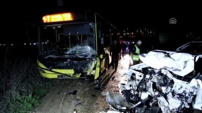 Belediye otobüsü ile kamyonet çarpıştı: 1 ölü, 2 yaralı - BURSA